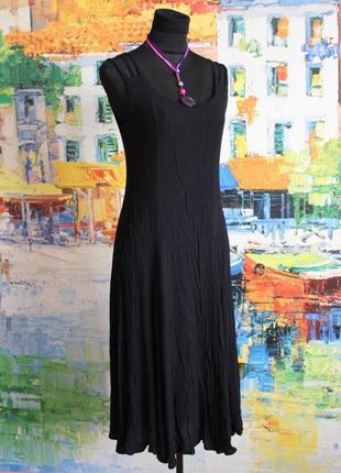 Платье сарафан черное легкое вискозное длинное м 40 viscose