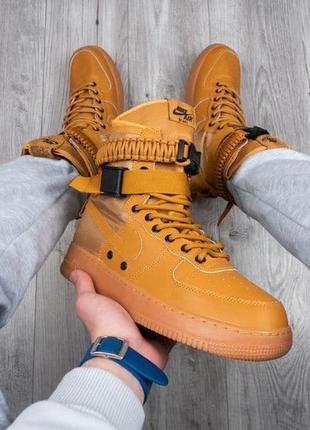 Мужские кроссовки nike air force special field коричневые
