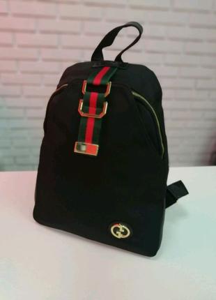 Женский текстильный рюкзак черный