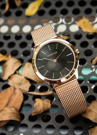 - %   женские швейцарские часы calvin klein minimal k3m226 (ор...