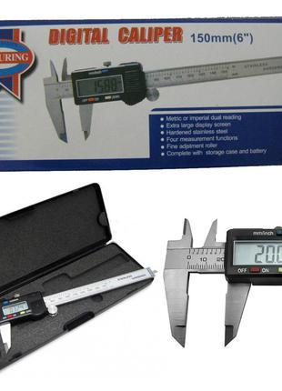 Электронный цифровой штангенциркуль Digital Caliper 150 мм