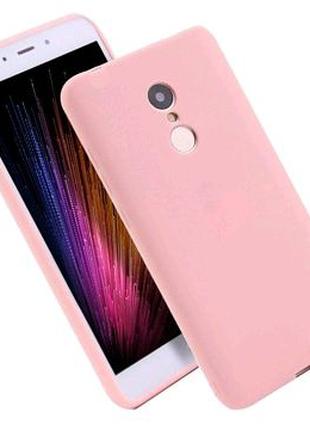 Матовый чехол на Xiaomi Redmi 5 (силиконовая накладка)