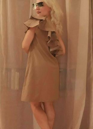 Платье с Оборкой на одно плечо