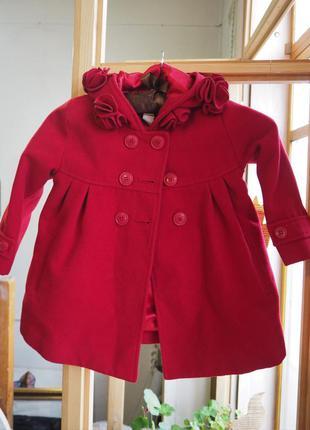 Детское пальто на 2-3 года