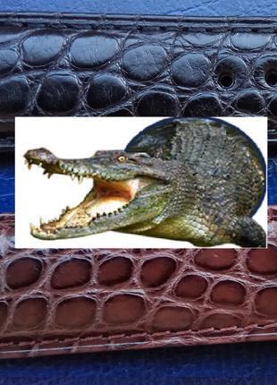 """Ремешок для часов из натуральной кожи крокодила с застежкой """"б..."""