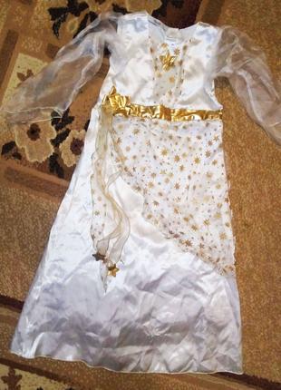 Карнавальный костюм Снежинка Снегурочка Зима на 5 - 6 лет