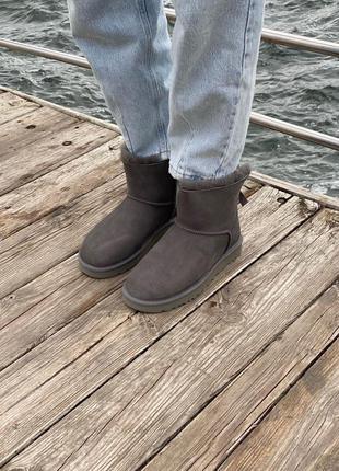 Угги ugg classic mini grey