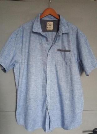 Рубашка. рубашка с коротким рукавом . шведка . большой размер ...