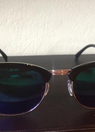Солнцезащитные очки в стиле ray ban clubmaster