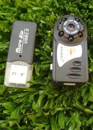 Camera mini Wi-Fi IP Q7 Мини камера вайфай Видеонаблюдения мал...