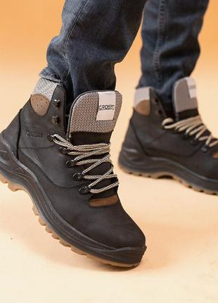 ботинки кожаные зимние шерсть
