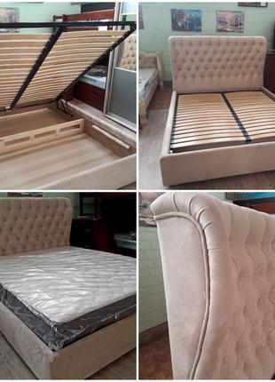 Кровать мягкая с подъемным механизмом 1.6*2.0