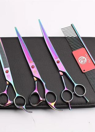 Набор Профессиональных Ножниц 8 для груминга ножницы стрижки
