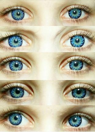 Синие линзы для зрения Ванилла