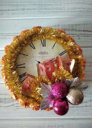 Годинник подарунок на Новий рік, подарок на Новый Год