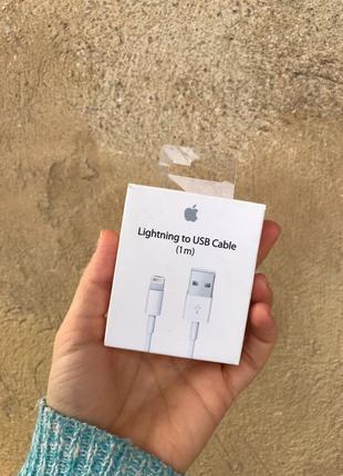 Кабель lightning to USB, iphone, apple, оригинал, зарядка