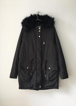 Куртка с утеплителем pull&bear куртка з капюшоном кольору хакі