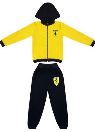Детский спортивный костюм для мальчиков с принтом ferrari трёх...