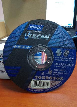 Отрезной круг по металлу Norton Vulcan 125x2,0x22,23 мм