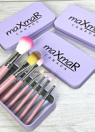 Набор кистей для макияжа в металлическом футляре maxmar mb-210...