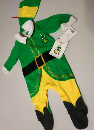 Новогодний карнавальный костюм, человечек эльфа george на 0-3 ...