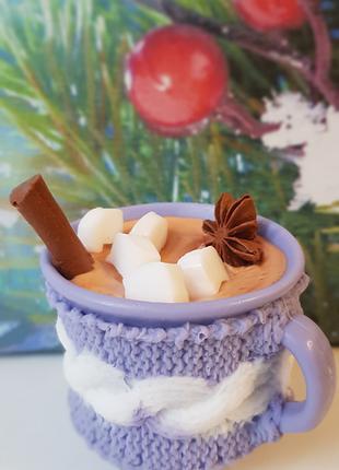 Чашечка с какао, мыло ручной работы
