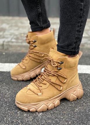 Зимние высокие кроссовки на меху, ботинки утепленные женские, ...