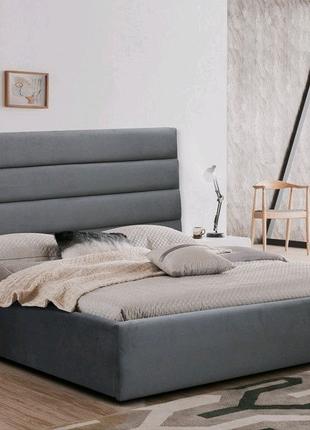 Кровать мягкая. Каретная стяжка. Кровать под заказ