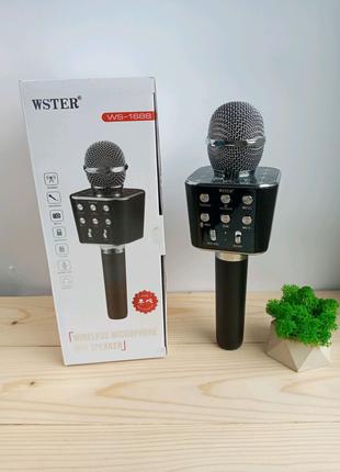 Караоке - микрофон Wster WS-1688 Bluetooth черный