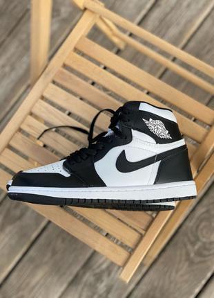 Кроссовки Nike Air Jordan White/Black (мех)