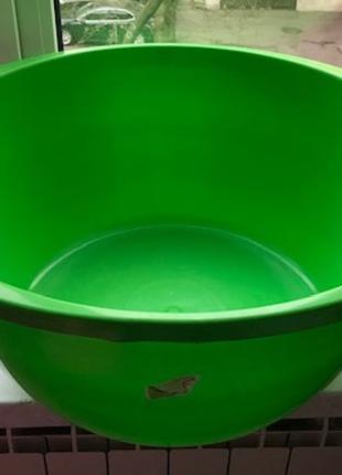 Таз пластиковый 44 л для хознужд, купания ребенка и засолок