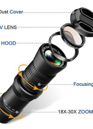 Объектив Universal 4K HD 18-30X Zoom Mobile Telephone Lens