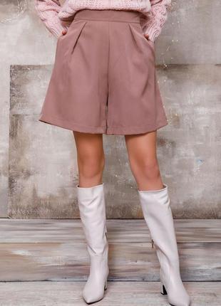 Бежевые свободные юбка-шорты