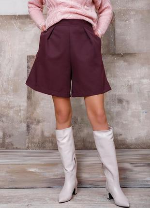 Фиолетовые свободные юбка-шорты