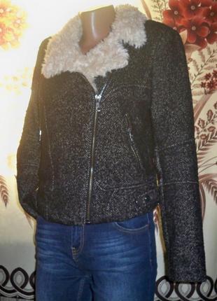 Фірмова тепла куртка-косуха zara, s, китай.