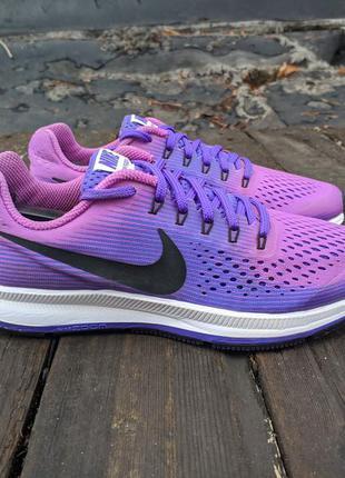 Nike air zoom pegasus 34 24.5см женские беговые кроссовки