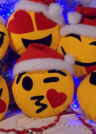 Подушка смайлик Украина Новый Год подарок