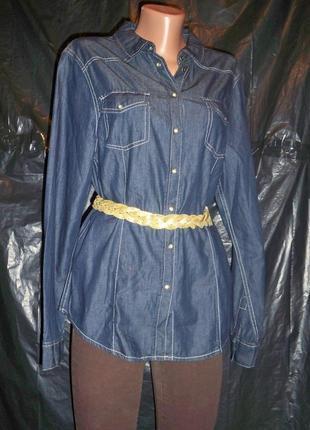 Фірмова нова джинсова сорочка esmara, 18р, германія.