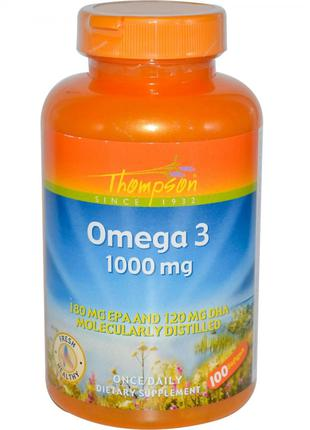 Омега-3, 1 000 мг, 100 капсул