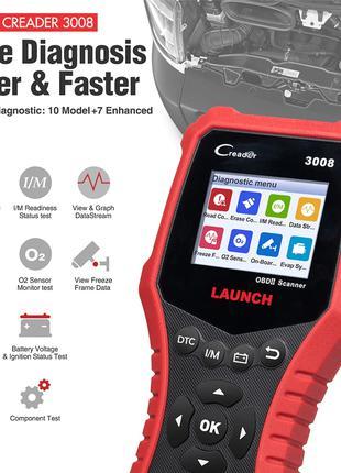 Launch X431 CR3008 автомобильный OBDII/EOBD сканер, гарантия