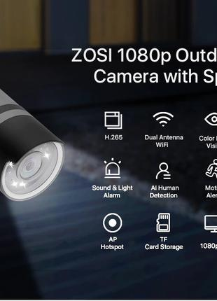 Уличная WIFI камера видеонаблюдения ZOSI 1NC-1902F