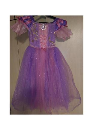 Платье принцессы эльза рапунсель новогоднее карнавальное