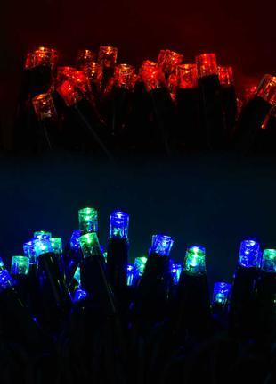 Гирлянда уличная светодиодная 100 лампочек, 10 метров, мультиколо
