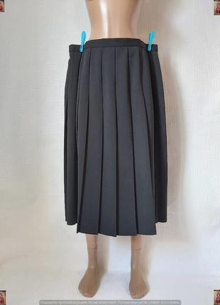 Фирменная marks & spenser базовая юбка миди с крупными плиссе ...