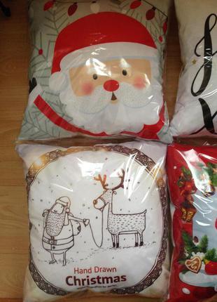 Новогодний декор подушки подарки