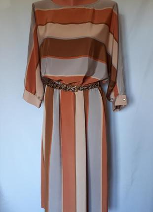 Винтажное платье в стиле 80-90 годов в широкую полосу elinette...
