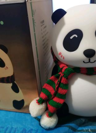 Детский силиконовый светильник ночник Панда