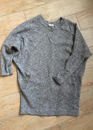 Zara свитер свитшот удлинённый