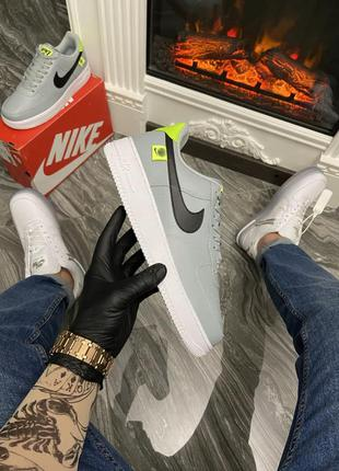 Nike air force 1 low grey green