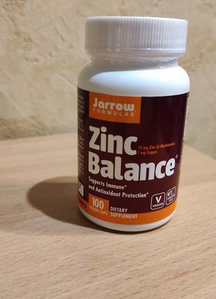 Цинк от Jarrow Formulas, Zinc Balance (15 мг) 100 капсул